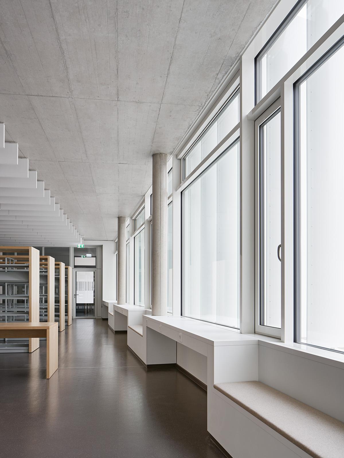 Neubau Bürgerzentrum und Stadtteilbibliothek Karlsruhe Mühlburg  Architektur: Klinkott Architekten Kaiserstraße 235 76133 Karlsruhe www.klinkott-architekten.de