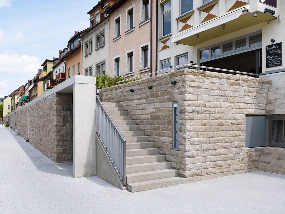 main hochwasserschutz von würzburg bereich: alte mainbrŸcke bis sanderglacisstra§e  architektur klinkott architekten yorckstra§e 43 76185 karlsruhe www.klinkott-architekten.de